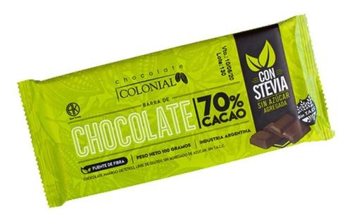 Chocolate Colonial Stevia Diet (x10un) Barata La Golosineria