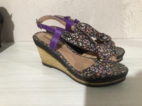 Sandália Estampada Flores