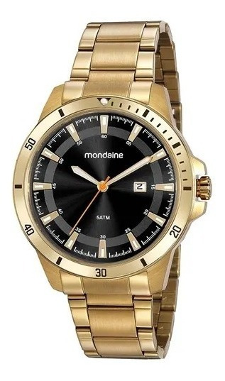 Relógio Masculino Dourado Mondaine 99438gpmvda2