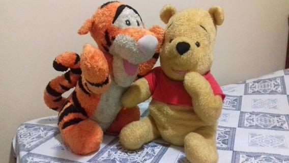 Pooh Puff + Tigrão - 45 Cm Pelúcia Importados Mattel Disney