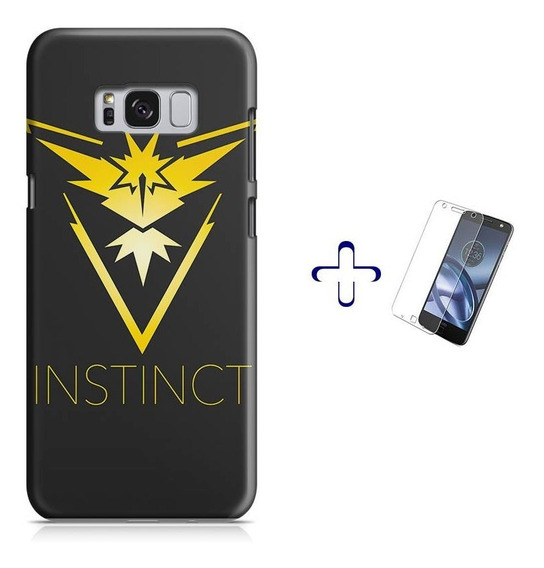 Kit Capa Galaxy S8 Pokemon Team Instinct+pel.vidro (bd01)