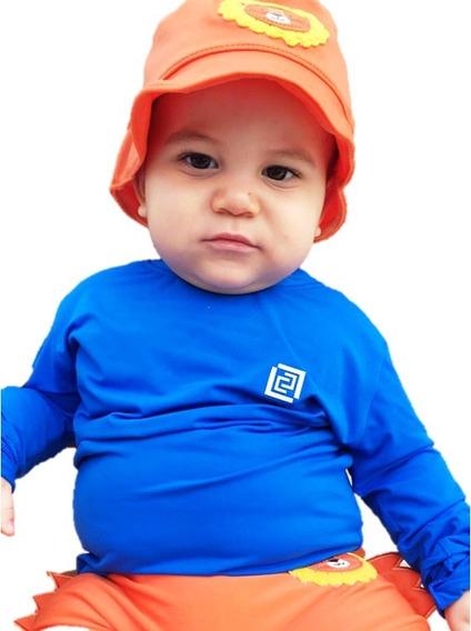 Camisa Proteção Uv Bebê (menino E Menina)