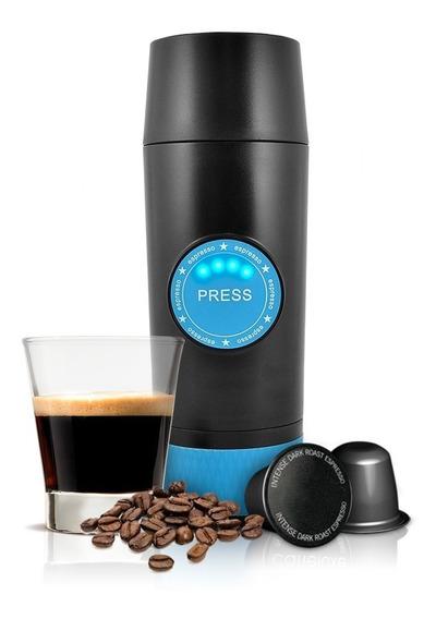 Redlemon Mini Cafetera Eléctrica Portátil Espresso Cápsulas
