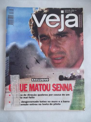 Imagem 1 de 8 de Revista Veja Nº 18 Edição 1390 Maio 1995 Ayrton Senna  Leia