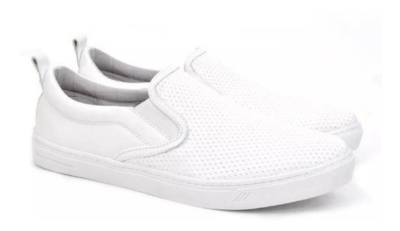 Tênis Slip On Masculino Preto Branco