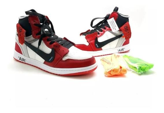 Nike Air Jordan 1 Off Whity Couro Legitimo E Tecido