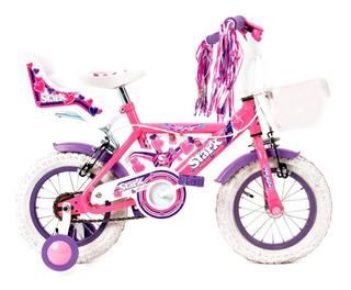 Bicicleta Stark Nena Rod 12 Canasto Asiento Muñecas Cuotas