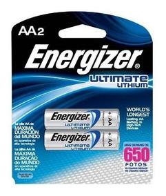 2 Pilhas Energizer Ultimate Lithium Aa2 De Lítio .