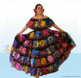 Traje Tradicional De Chiapas Para Dama Unitalla Bordado