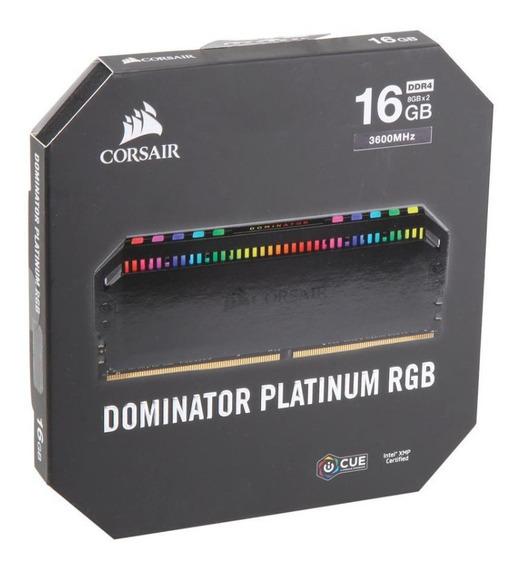 Memoria Corsair Dominator Platinum Rgb 16gb 2x8gb Ddr4 3600