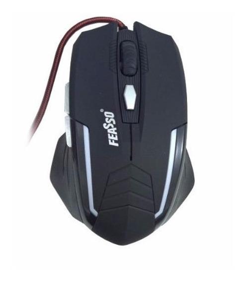 Mouse Gamer Usb 2400dpi - Feasso Famo-17 Resolução Ajustável