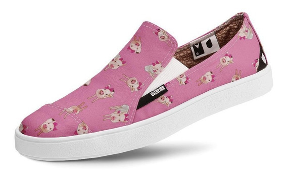 Tênis Casual Usthemp Slip-on Vegano Mini Porco