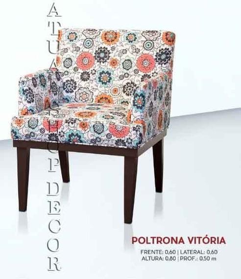Promoção Poltrona Decorativa Sala Escritório Vitoria
