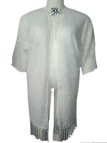 Cardigan Kimono Blanco Talla 3x / 4x American