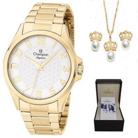 Relógio Champion Cn26377w O R I G I N A L + Kit Brinde + Nf
