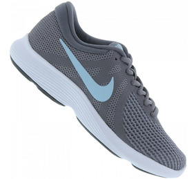 Tênis Nike Feminino Revolution 4 - Cinza E Azul