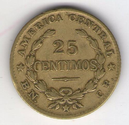 Costa Rica Moneda 25 Centimos 1945 Km#181  Argentvs