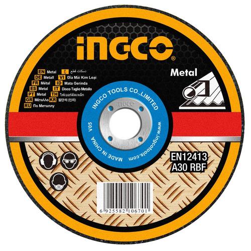 Imagen 1 de 4 de Disco Abrasivo Centro Plano Corte Metal 9'' X 1.9mm Ingco Mc