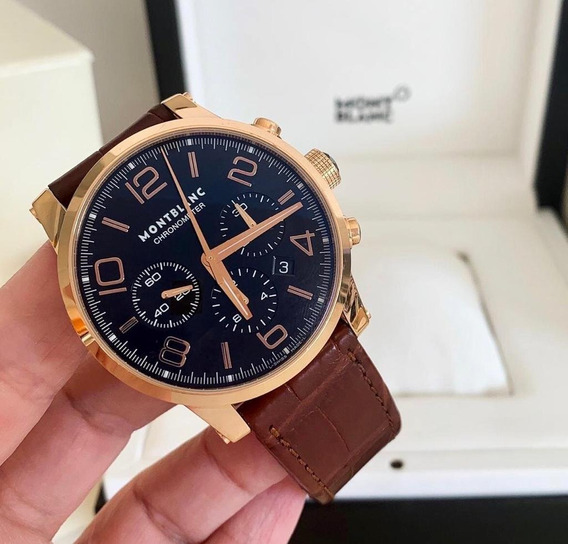Montblanc Timewalker Chronograph Ouro Rosé Completo 43mm