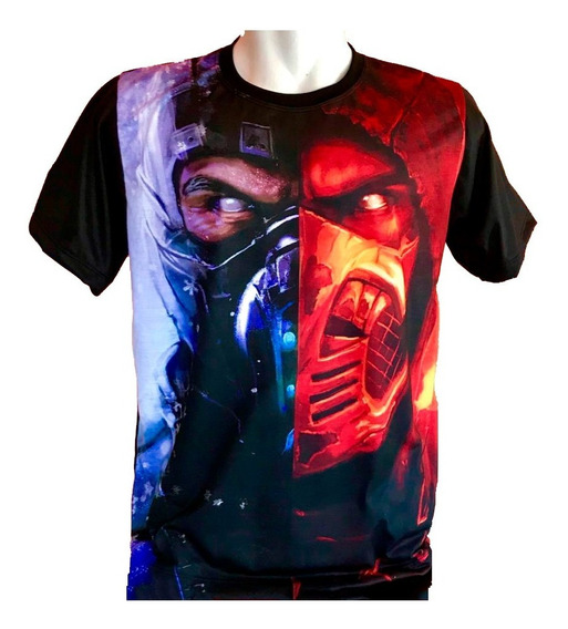 Camiseta Sub-zero E Scorpion Mortal Kombat