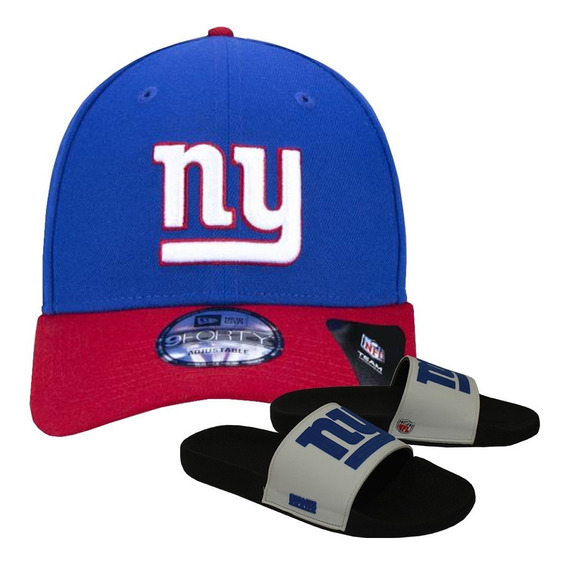 Kit Boné New Era + Chinelo Branco New York Giants Nfl