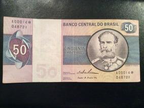 Cédula De 50 Cruzeiros Asterisco Reposição C-143a Série 14