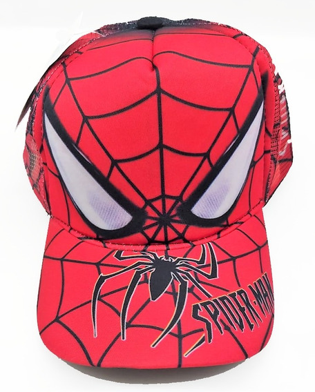 Boné Infantil Aba Curva Homem Aranha Spider Chapeu Crianças
