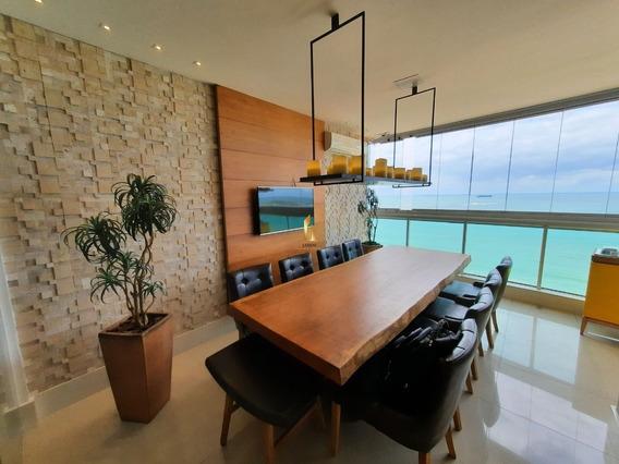 Apartamento 04 Quartos Alto Padrão Frente Ao Mar Na Praia De Itaparica. - 20362