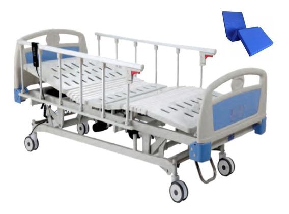 Cama De Hospital Electrica 5 Funciones + Colchon Y Envio