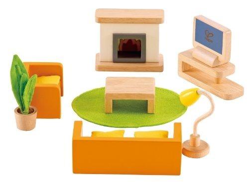Juego De Sala Hape Wooden Doll House Furniture Media