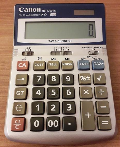 Calculadora Canon Hs-1200 Ts - Solar E Bateria (12 Dígitos)