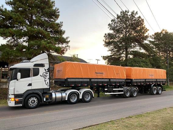 Conjunto 2014 Scania R 440 6x4 Engatado Bitrem Noma Com Pneu