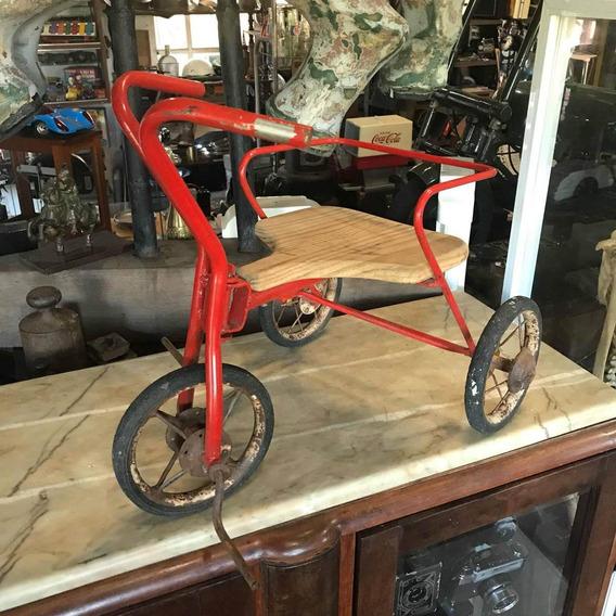 Triciclo Vermelho Antigo Infantil Velociped Ñ Peça Bicicleta