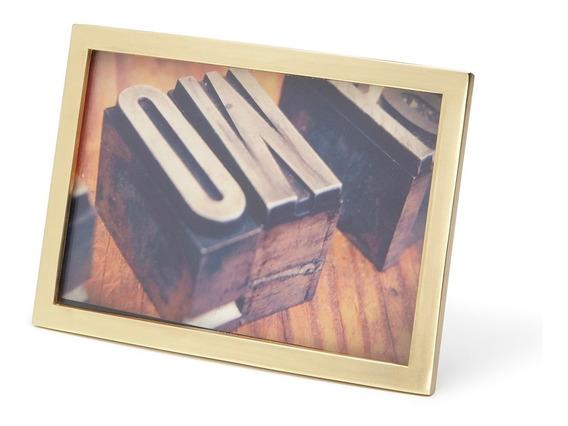 Porta Retrato Senza 10x15 Dourado Umbra Umbra