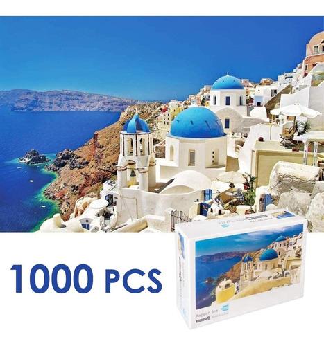 Imagen 1 de 8 de Rompecabezas De Paisaje Del Mar Egeo, 1000 Piezas