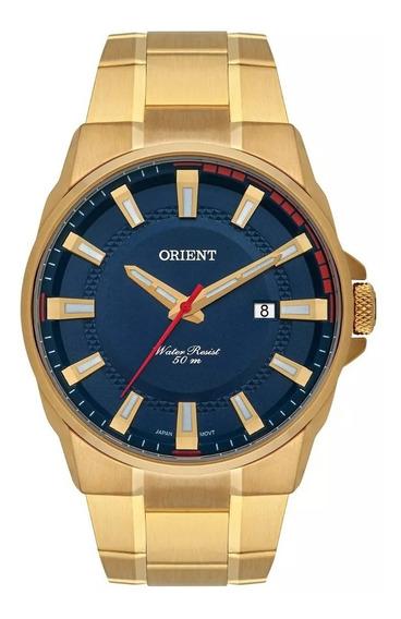 Relógio Orient Masculino Mgss1189 D1kx Dourado Azul