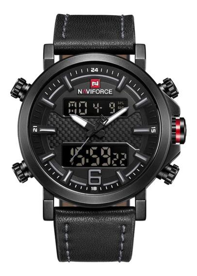 Relógio Naviforce 9135 Masculino Modo Duplo Esporte Digital Led Original Ante Risco