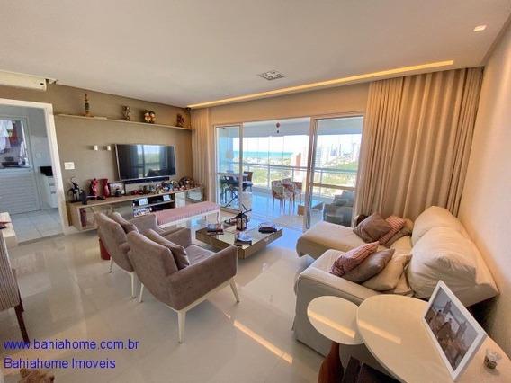 Apartamento Para Vender Em Patamares Com 130m² No Greenvile, 3 Quartos E 1 Suíte - Salvador Ba - Ap00877ces