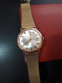 Lindo Relógio Masculino Folheado A Ouro Election.