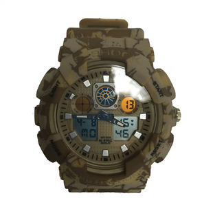 Reloj Tipo Militar G-force Camuflado Arena G-shock
