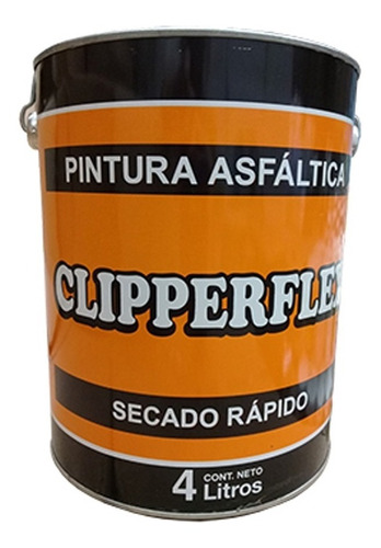 Pintura Asfaltica Clipperflex Base Solvente X 4 Litros Mm