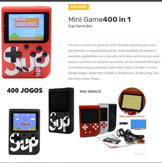 Sup Game Retro Clássico Super Av Mini 400 Jogos New Port