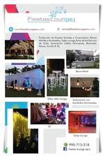 Alquiler De Salas Lounge, Barra, Salas De Bar, Toldos,sonido