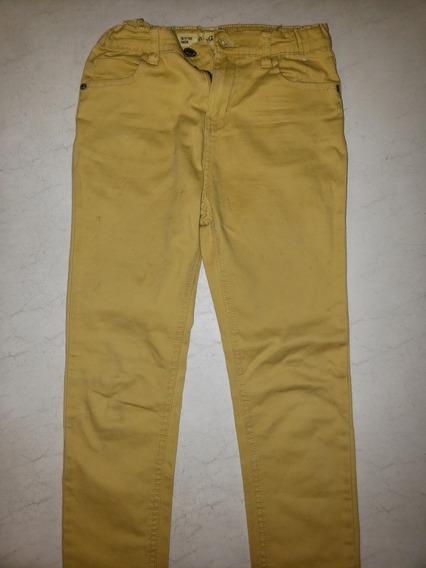 Pantalón Amarillo Niños 10/11 Años Impecable
