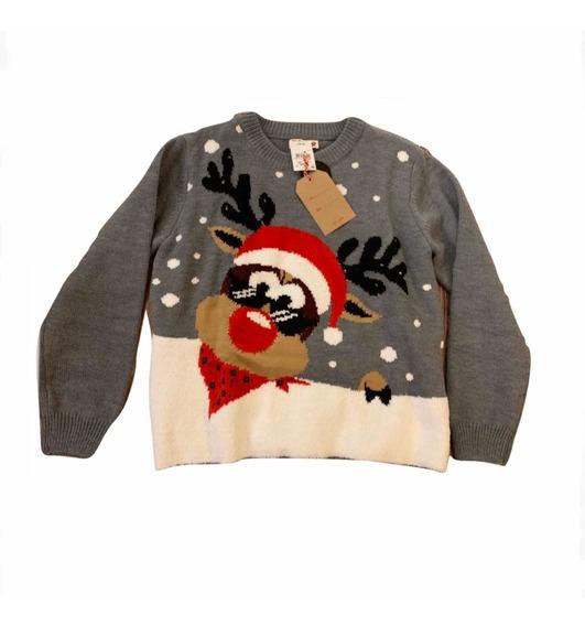 Suéter Navideño Reno Negro, Suéter Navidad