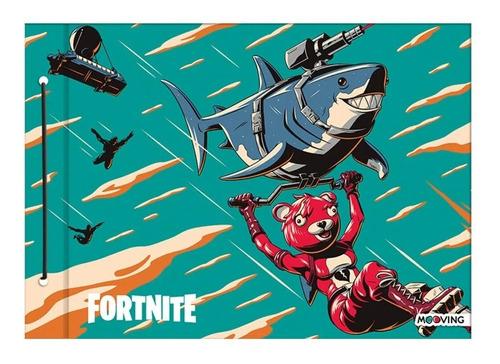 Carpeta Escolar Nro 5 Fortnite Dibujo Cordon Mooving 4209 Ed