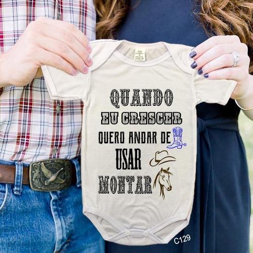 Body De Bebês Cowgirl Quero Andar De Bota Country Tshirt