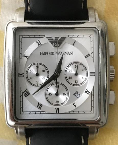 Relógio Emporio Armani Original Couro Analógico + Brinde