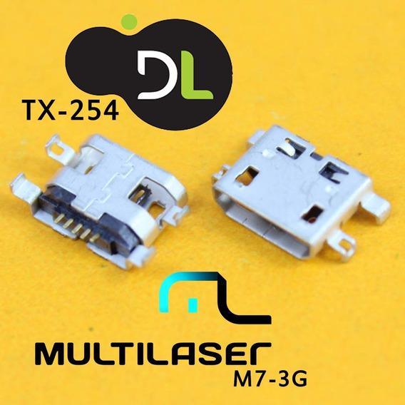 Kit 10 Conector Usb Dl Tx-254 / Multilaiser M7 3g Dual Core