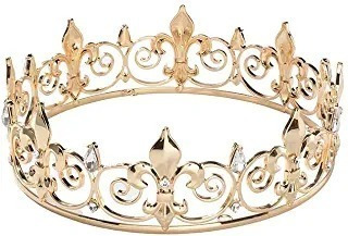 Royal Full King Crown Metal Hombres Coronas Y Tiaras Masculi